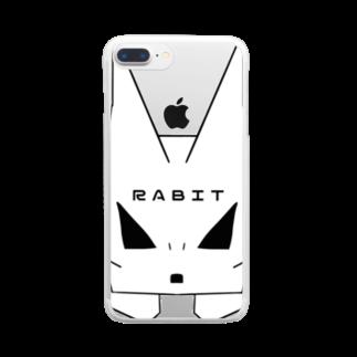 XenoPra/ぜのぷら じさかーのばっどらびっと Clear smartphone cases
