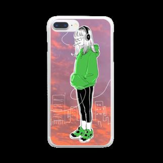 フーカ・コバヤシのTokyo City Girls vol.3 Clear smartphone cases