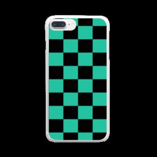 MIMOKAの市松刃  Clear smartphone cases
