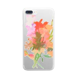 花束 Clear smartphone cases