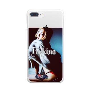 唐獅子牡丹 Clear smartphone cases
