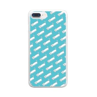 パノラマねこ/シームレス Clear smartphone cases
