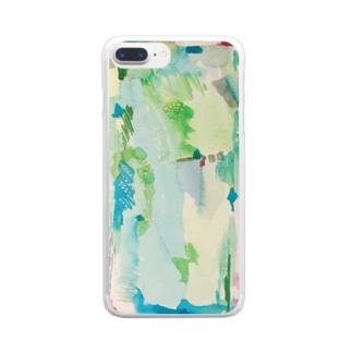 ハタケ tate Clear smartphone cases
