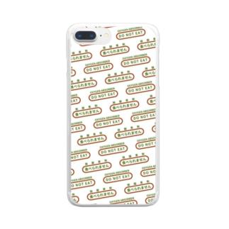 脱酸素剤風 スマホケース Clear smartphone cases