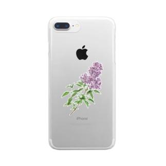 ペルシアン ライラック iPhoneケース Clear smartphone cases