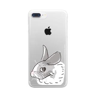 月兎亭のスンッうさぎ Clear smartphone cases