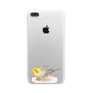 オカメインコ レキ【まめるりはことり】 Clear smartphone cases