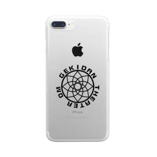 シアターOMロゴ(黒) Clear smartphone cases