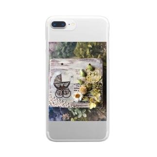 ベビーカーと紫陽花 Clear smartphone cases
