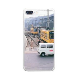 "東京都:都電荒川線王子駅前停留所 Tokyo: ""Toden"" at Oji-ekimae stop Clear smartphone cases"