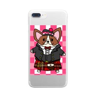 キルトコーギー Clear smartphone cases