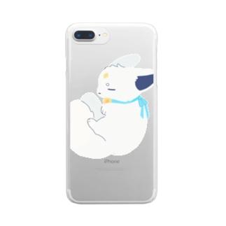 むさぴ Clear smartphone cases
