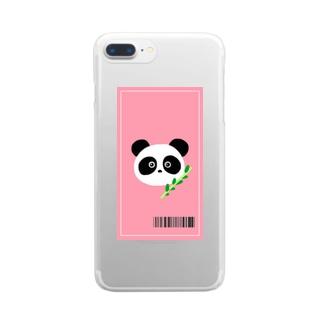 パンダの侵略 Clear smartphone cases