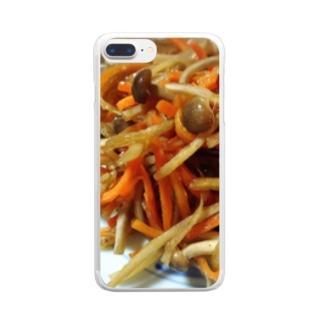 きんぴら Clear smartphone cases