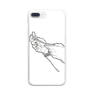 きうちりょうせいくんの手 Clear smartphone cases