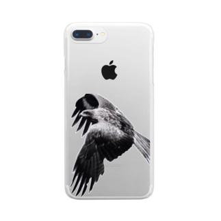 猫島、鷹は美しき翼を広げて飛んだ Clear smartphone cases