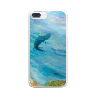 月ノ子の森に恋してのムラナギ/南風の聴こえる日 Clear smartphone cases