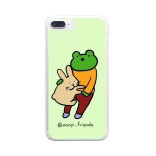 かえるさんとうさぎさん Clear smartphone cases