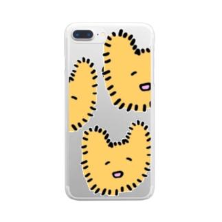 ぽわちゃん Clear smartphone cases