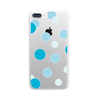 やまとねこのソーダの水玉 Clear smartphone cases