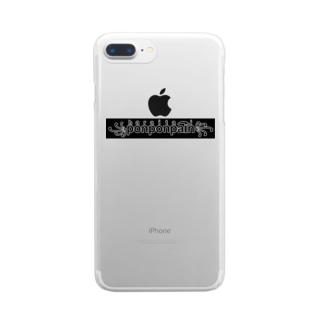 お腹痛い くろ Clear Smartphone Case