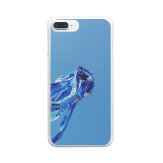 taigaの青のファンファーレ Clear smartphone cases