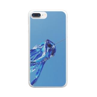 青のファンファーレ Clear smartphone cases