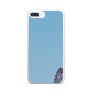 観覧車と空 Clear smartphone cases