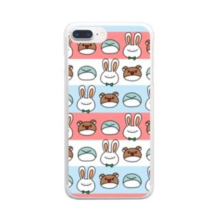 ぺうさーず① Clear smartphone cases