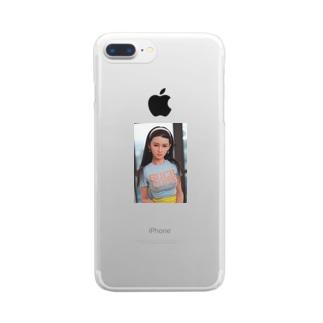 美しいセクシーな成熟したラブドール Clear smartphone cases