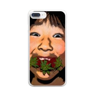 おもろいクリアスマホケース Clear smartphone cases