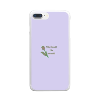お馬もshopのチューリップの反抗 Clear smartphone cases