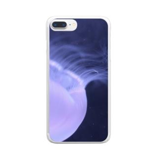 くらげ『深淵』 Clear smartphone cases