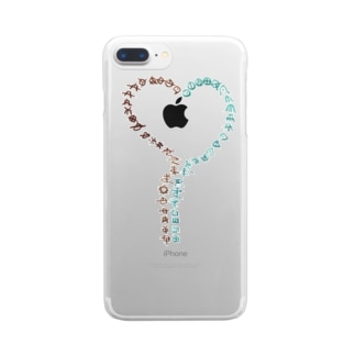 ハートのアワウタ Clear smartphone cases