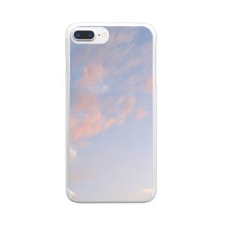 夕焼けの想い出その5 Clear smartphone cases