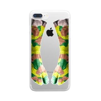 ファション地下足袋 Clear smartphone cases