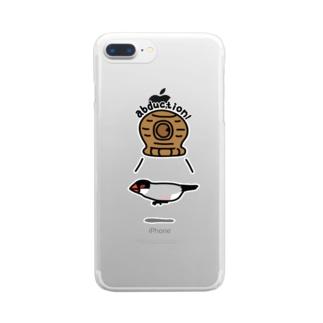 桜文鳥アブダクション Clear smartphone cases