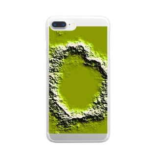 ハート型クレーターのつもり Clear smartphone cases