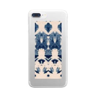 タイダイモンスター Clear smartphone cases