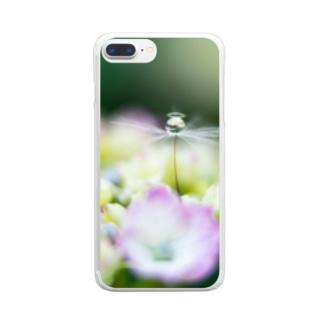 angel of hydrangea 170603 Clear Smartphone Case