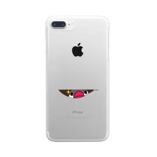 のぞき見文鳥【まめるりはことり】 Clear smartphone cases