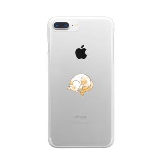 もうダメェ猫 Clear smartphone cases