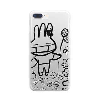 みさぎ夏マスク Clear smartphone cases