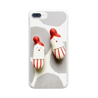 オクサンマカロン Clear smartphone cases