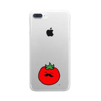ヒゲプチトマト クリアスマートフォンケース