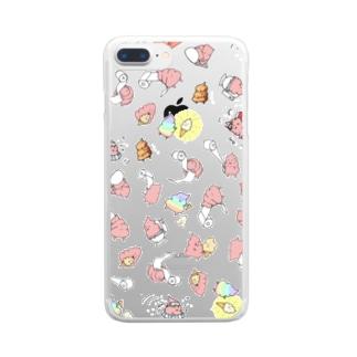 UNCHIKUN(尽くし) Clear smartphone cases