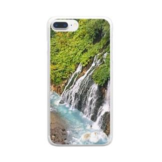 北海道白ひげの滝 Clear smartphone cases