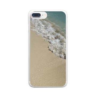 砂浜リゾート Clear smartphone cases