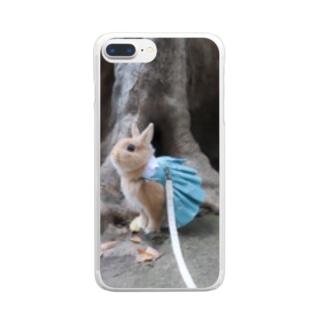 待ち惚けたわしちゃん Clear smartphone cases