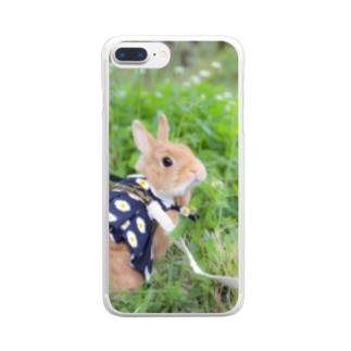 森の妖精たわしちゃん🅱️ Clear smartphone cases